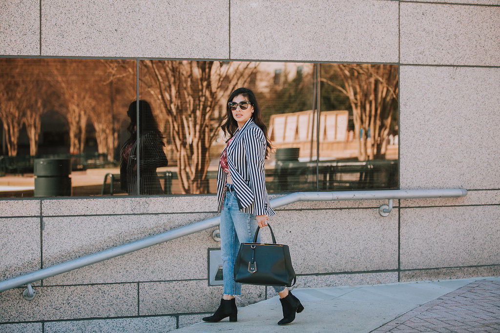 2d5c646ef5 How to wear Black and White Stripes - StillLoveGlam